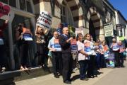 Protestors voice concerns over cuts to Further Education